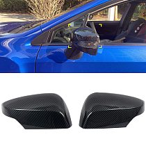 Fit For Subaru WRX STi 2015-2019 Car Accessories ABS Carbon Door Rear view Side Mirror Cover Trim 2pcs