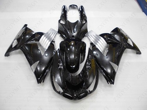 Plastic Fairings for Kawasaki Zx14r 2006 - 2011 Black Full Body Kits ZZR 1400 2006 Fairing Kits Zx14 Zx-14r 06 07