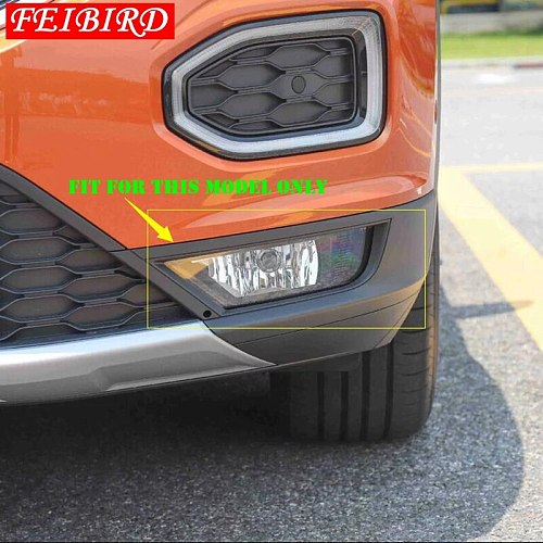 Exterior For Volkswagen T-Roc T Roc 2018 2019 2020 ABS Side Car Front Fog Lights Foglight Lamp Cover Trim Bright Silver