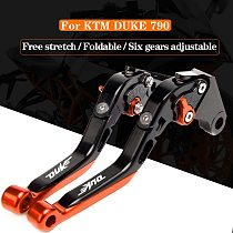 For KTM DUKE 790 DUKE790 2018 2019 2020  Motorcycle CNC Adjustable Folding Extendable Brake Clutch Levers With logo DUKE
