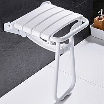 AST7265 Folding Shower Chair Shower Folding Seat Bench Bath Stool Wall Mounted Stool Bathroom Wall Chair For Elderly Disabled