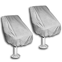 2 Pack Boat Seat Cover, Outdoor Waterproof Pontoon Captain Boat Bench Chair Seat Cover, Chair Protective Covers