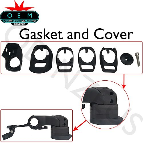 S-W OEM Gasket and Cover/Stem 80-120mm  Customized 1:1 Full Set   Road Handlebar 400/420/440mm Handlebar Computer stand