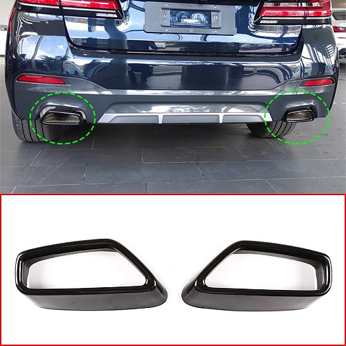For BMW 5 Series G30 G38 2018-2021 Stainless Steel Car Tail Muffler Exhaust Pipe Output Decoration Frame Cover,Auto Accessories