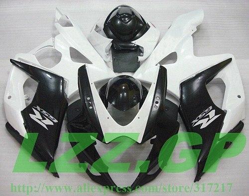 Injection  Black White L9872 Full Fairing Kit For SUZUKI GSX-R1000 K5 05-06 GSXR1000 GSX R1000 GSXR 1000 K5 05 06 2005 2006 Fair