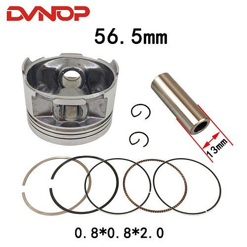 Motorcycle 56.5 mm Piston 13 mm Pin Ring 0.8*0.8*2.0mm Set For  CG125 ZJ125 CG ZJ 125 Egine Spare Parts