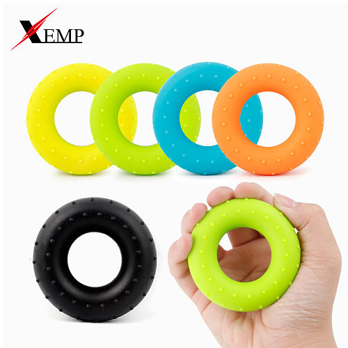 Silicone Adjustable Hand Grip 20-60LB Gripping Ring Finger Forearm Trainer Carpal Expander Muscle Workout Exercise Gym Fitness
