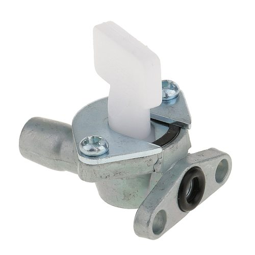 Silver Carb Air Cooled Carburetor Fuel Oil Valve Tap Switch for 49cc Mini Pocket Bike Quad ATV SUV 2 Strokes Engine Carb Switch