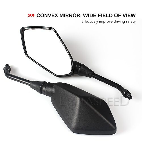 Universal  8mm 10mm Rearview Mirrors Motorcycle Carbon Fiber Black ABS Plastic Rear View Mirror Side Mirrors Accessories