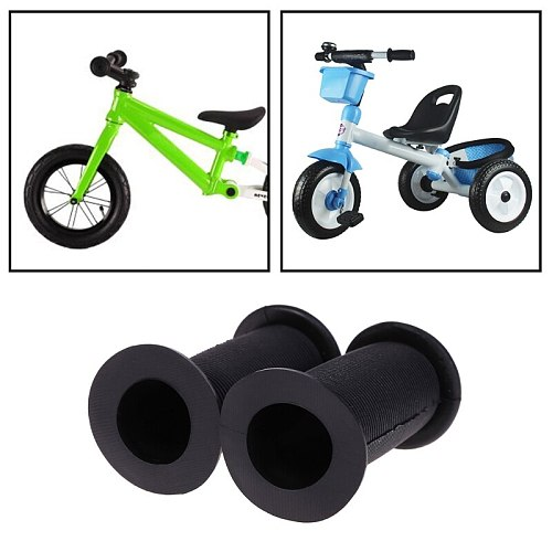 1Pair Bicycle Grips Children Bike Tricycle Scooter Non Slip Thread Rubber Handle Anti-skid Child Kids Skateboard Scooter