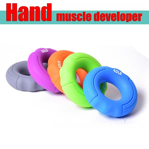 Silica Gel Portable Hand Grip Gripping Ring Carpal Expander Finger Trainer Grip Strength Rehabilitation Massage Ring Ball