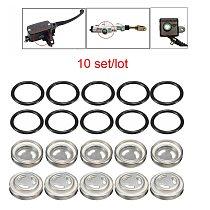 10 sets/lot Master Brake Cylinder Reservoir Sight Glass Motorcycle Dirt Bike Gasket 18mm 12mm For Honda Suzuki Kawasaki Harley