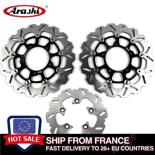 Arashi GSXR600 GSX750R GSXR 1000 CNC Front Rear Brake Disc Rotors For SUZUKI GSX-R 600 750 2006 2007 / GSXR1000 2005-2008