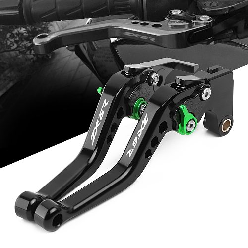 Logo For Kawasaki ZX6R ZX-6R ZX6R/636 2007 2008 2009 2010 2012 2013 2014-2017 2018 CNC Adjustable Motorcycle Brake Clutch Levers