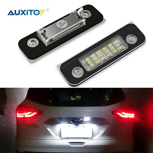 2pcs Canbus No Error LED Car Lights For Ford Fiesta Fusion Mondeo MK2 LED Car License Number Plate Lamp Tail Light 6500K White