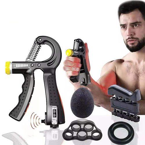Adjustable Heavy Gripper Fitness Expander for Hands Grips Wrist Training Increase Strength Spring Finger Pinch Carpal Expander