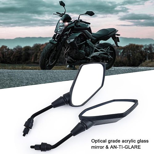 ESPEEDER 1Pair Motorcycle Accessories Moto Mirrors Scooter E-Bike Rearview Mirrors Electrombile Back Side Convex Mirror 8mm 10mm