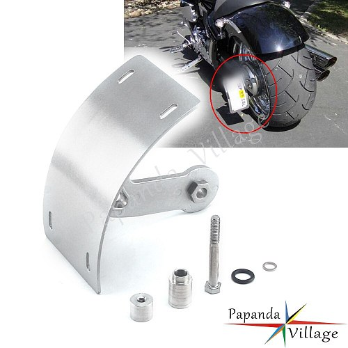For Suzuki Boulevard M109R Motorcycle Swingarm Curved Vertical Side Mount License Plate Tag Holder Bracket Silver 2006-2013 2012