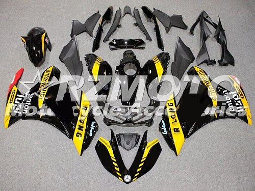 4 Free Gifts New ABS Full Fairings kit for YAMAHA YZF-R3 14 15 16 YZF-R25 R3 R25 2014 2015 2016 2017 Body set Cool Yellow black