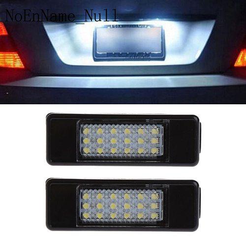 2pcs 18 LED License Plate Light Lamp For Peugeot 207 307 308 Citroen Berlingo 2004-2009 C3 C4 C5 C6 5D