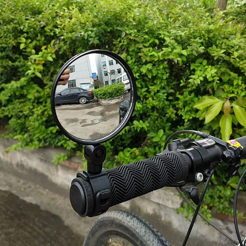 Universal Bicycle Motorcycle Rearview Handlebar Wide-angle Convex Mirror Cycling Rear View 360 Rotate Adjustable High Quality