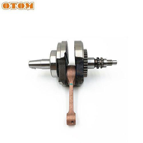 OTOM Motorcycle Crankshaft KLX300 Connecting Rod W/ Bearing For Loncin CR6 VOGE300R YF300 Kawasaki Dirt Pit Bike Engine Parts