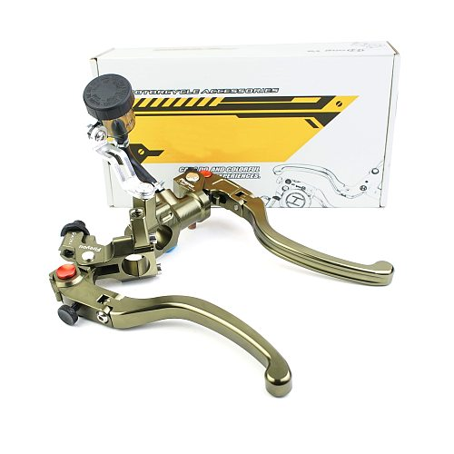 Motorcycle Radial Mount Brake Folding Lever Forged 17.5rcs Master Cylinder Perch Line Clutch Handle for Cafe Racer Nanja 400R