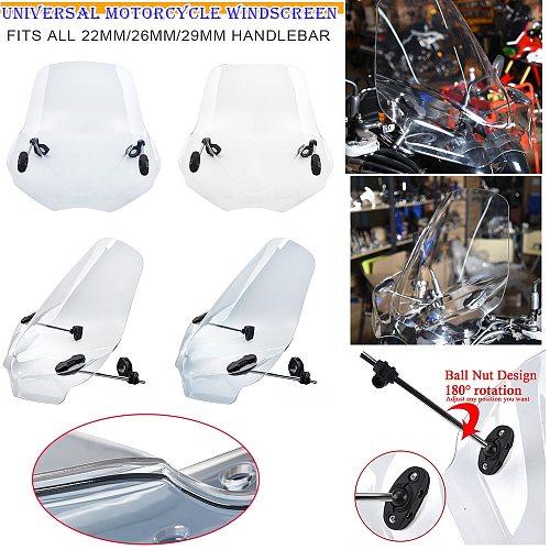 Motocycle Windshield Windscreen Wind Deflector Universal For Harley Davidson Softail Iron Yamaha XSR 900 700 Honda BMW Kawasaki
