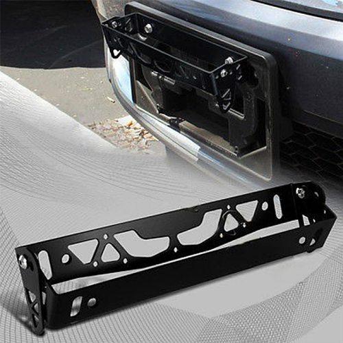 Universal Car General Pattern License Plate Frame Adjustable Aluminum Alloy License Plate Holder