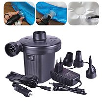 Portable Auto DC Electric Air Pump Quick-Fill Home Car Airpump For Inflatables Mattress/Raft/Bed/Boat/Pool Swimming Ring Drop AA