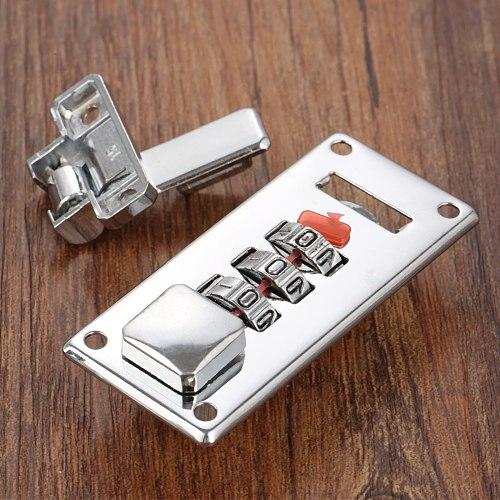 1Set Silver Password Lock Latch Jewelry Wooden Box Fixed Lock Handmade Luggage Suitcase Coded Locks Furniture Hardware 65*29mm