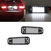 2x White Error Free Led Rear License Plate Lights Lamp For Kia RIO 2005-2011 RIO5 2006-2011