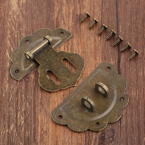Antique Bronze 58mm Wood Box Hasp Drawer Latches Lock Catch for Jewelry Box Suitcase Buckle Clip Clasp Furniture Hardware