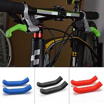 1 Pair Mountain Bike Handle Bar Grip Wrap Bicycle Brake Lever Non-slip Silicone Cover Protector Removable Handlebar Grip Cover