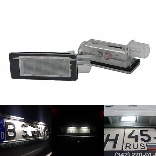 2Pcs Car 18Led Number License Plate Lights Lamp For Renault Espace Mk4 Scenic Mk2 Laguna 2 Dacia Duster Lodgy Logan Mcv Iii