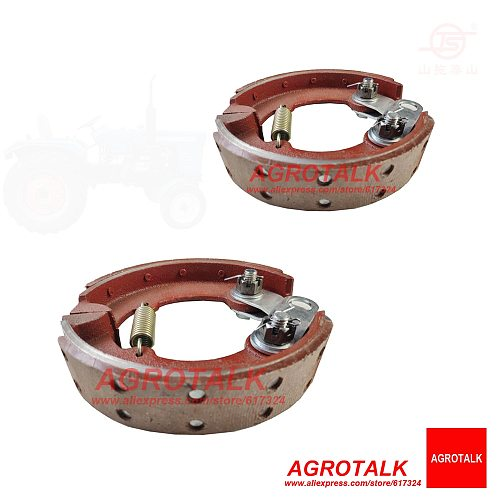 Set of brake shoes for Hubei Shenniu Bison 254 tractor with engine Hubei 295T, part number: