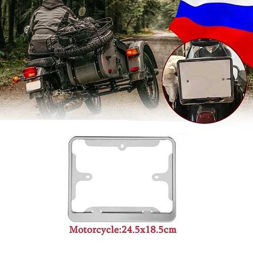 Motorcycle License Plate Frame Number Plate Cover Protection for Russian Moto Universal