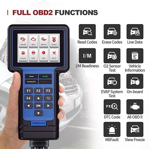 THINKCAR THINKSCAN 601 OBD2 Car Diagnostic Tool Engine ABS SRS Systems Diagnostic Code Reader Free Update Oil EPB SAS TPMS Reset