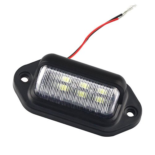 Car Rear Trunk Switch Assembly License Plate Lamp  DC 12V Warm White Light Reverse Rear License Plate Lamp