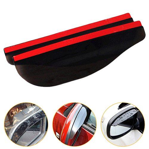 2pcs Flexible Car Rear View Side Mirror Anti Rain Visor Snow Guard Weather Shield Sun Shade Cover Rearview Suv Auto Accessories
