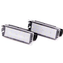For Renault 1Pair Car LED License Plate Light SMD 3528 For Renault Megane 2 Clio Laguna 2 Megane 3 Twingo Master Velsatis
