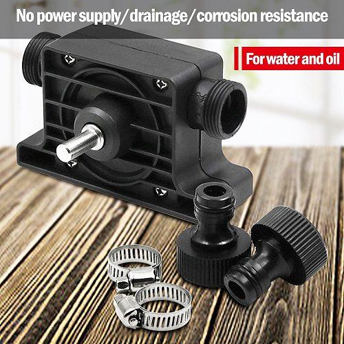 Electric Drill Pump Self Priming Transfer Pumps Oil Fluid Water Pump Portable Liquid Transfer Pumps Home Garden Tools