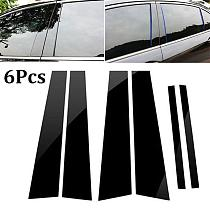 For Honda Accord Set Door Window Trim Cover 6Pcs Black PC Plastic Pillar Posts BC Pillar Cover Car Stickers