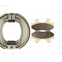 for HONDA SH 150 SH150 2002 - 2009 Disc Brake Pads Shoe Drum set Front Rear 2008 2007 2006 2005 2004 2003