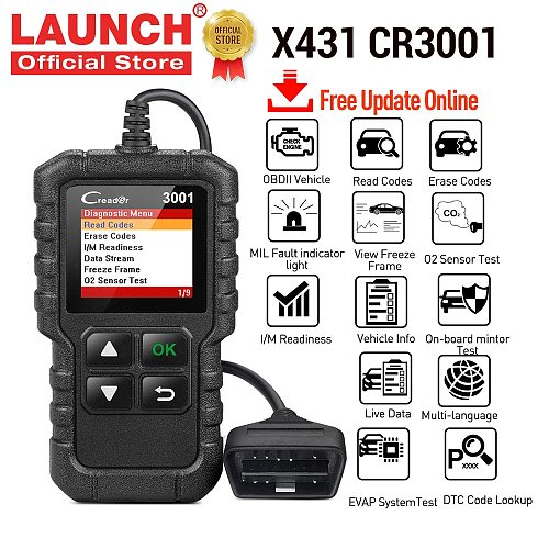 LAUNCH obd2 Scanner X431 CR3001 Automotive Professional Diagnostic Tool obd 2 Engine Code Reader Scan tool For Cars pk ELM327