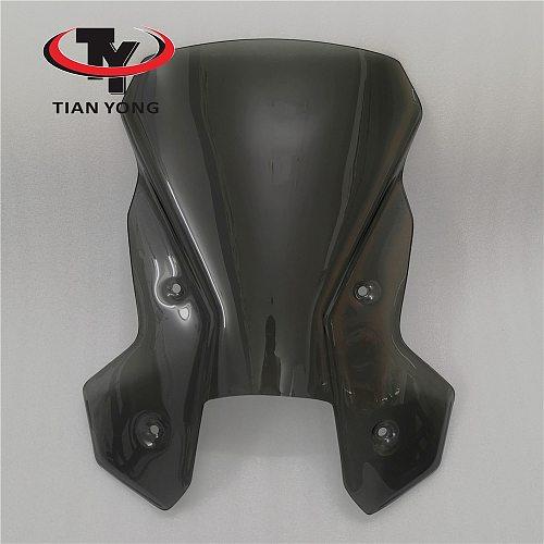 For KTM 1190 1090 ADVENTUER Motorcycle Accessories Smoke Black Windshield Heightening Wind Deflectore raise Windscreen Spoiler