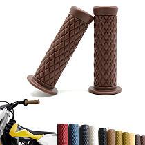 2PCs 25mm Universal  Motorcycle Black Handlebar Hand Grips Cafe Racer Bubber  Clubman Custom for Honda