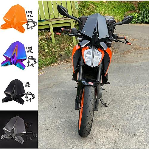 Motorcycle Sports Windshield WindScreen Visor Viser Fits For 125 390 2017 2018 For 125 390 17 18 Double Bubble