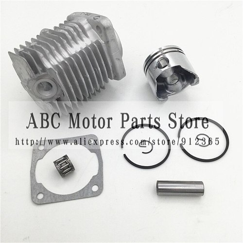 44-6 Engine Cylinder Head With 44MM Piston kit for 2 stroke 49cc Mini Dirt bike Mini ATV Quad Pocket bike Piston Ring