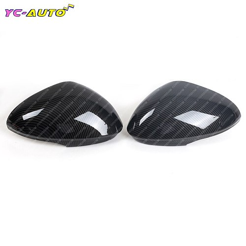 Car Side Mirror Rearview For Alfa Romeo Giulia 2017 2018 ABS Carbon Fiber Car Rearview Mirror Decoration Cover Trim Accessories